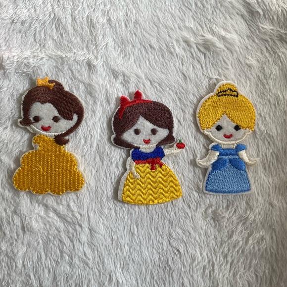 New Iron on Disney Princess Patches